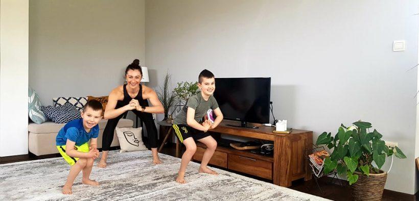 cvičenie doma s deťmi