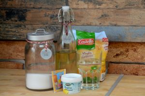 domáca plastelína, postup, ingrediencie